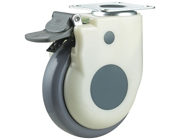Medical Caster with TPU Wheel Swivel Plate with Total Brake